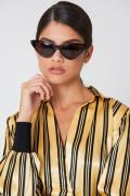 NA-KD Accessories Pointy Cat Eye Sunglasses - Brown