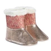 Michael Kors Rose Gold Baby Boots 17 (UK 1)